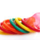 farvede kondomer